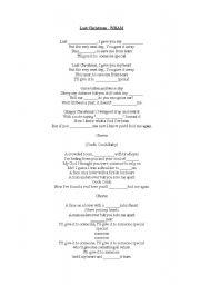 Home > songs worksheets > Last Christmas - Lyrics sheet