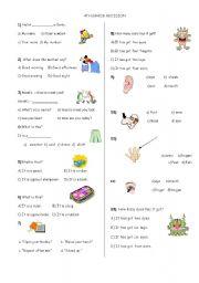 English Worksheet: 4th Grade revision test