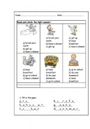 English Worksheets: action worksheet