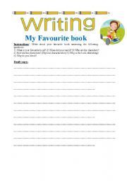 English Worksheets: Writing My favourite book