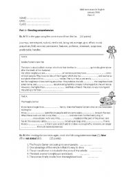 Printables Worksheets For Highschool Students test for high school students 33 key