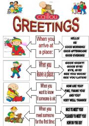 Greetings worksheets english worksheet calliou hello songfully editable3 pages list of m4hsunfo