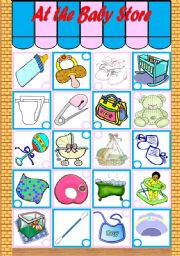 English Worksheet: The Baby Store – vocabulary + grammar (pronouns he, she, it) [3 tasks] KEYS INCLUDED ((3 pages)) ***editable