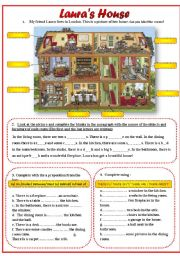 English Worksheets: Laura�s House