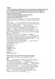 English Worksheets: gap-filling