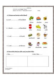 English worksheets: the Food worksheets, page 741