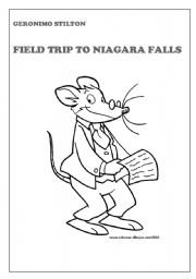 7 worksheets with questions on the book geronimo stilton field trip to niagara falls. Black Bedroom Furniture Sets. Home Design Ideas