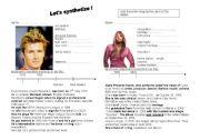 English Worksheets: short bio Ciara reading comprehension