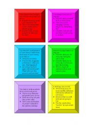 English Worksheets: Composition cards