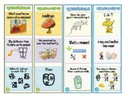 English Worksheets: DECK-CARDS- Riddles and Funny questions 1/2