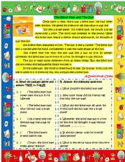 English Worksheet: A story from Asia - China (The blind man and the sun)
