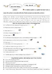 Natural conversation using rhetorical questions - ESL worksheet by ...
