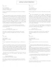 English Worksheets: Application Writing