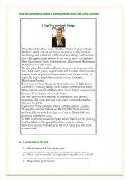 Read about David Beckham