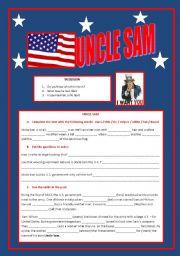 English Worksheets: Uncle Sam