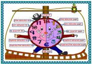 English Worksheet: 2 Posters - the Clock - my drawings