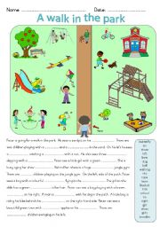 English Worksheet: A walk in the park
