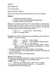 English Worksheets: Lesson plan: wh question words