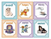 English Worksheet: Feelings flashcards part 1(12.07.2011)