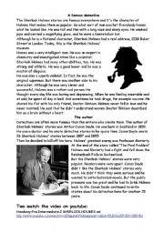 English Worksheet: Sherlock Holmes / Arthur Conan Doyle + crosswords