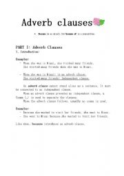 Printables Adverb Clause Worksheet clause worksheet davezan adverbial davezan