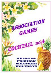 English Worksheet: ASSOCIATION GAMES - COCKTAIL NO.4