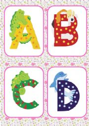 English Worksheet: ALL THE A B C�S ANIMALS FLASH CARDS