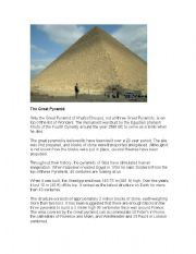 English Worksheets: The great pyramid