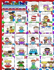 English Worksheets: Using Doesn�t and Don�t