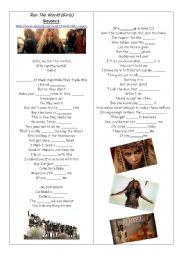 English Worksheets: BEYONCÉ - RUN THE WORLS (GIRLS)