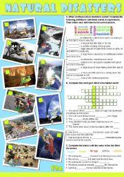 English Worksheets: NATURAL DISASTERS