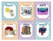 English Worksheet: Feelings flashcards part 2(13.07.2011)