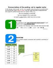 English Worksheet: Pronunciation of -ed in regular verbs