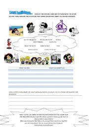 English Worksheet: Mafalda�s holidays