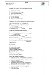English Worksheets: Song Father and Son by Cat Stevens