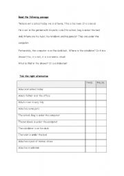 English worksheet: Read about Mike