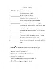 English Worksheets: parts of the eyes