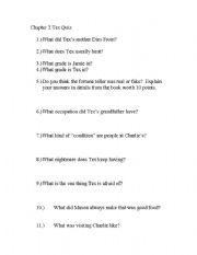 English Worksheets: TEX questions