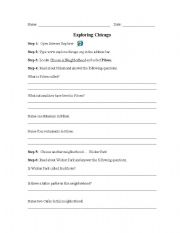 English Worksheet: Exploring Chicago