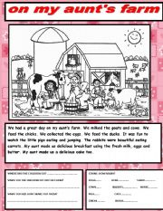 English Worksheet: reading and writing