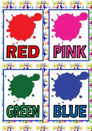COLOURS FLASH CARDS