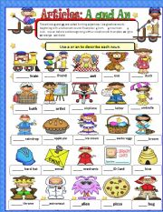 English Worksheet: Articles a and an