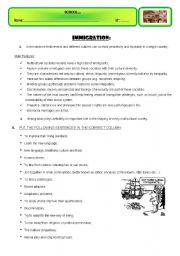 English worksheet: IMMIGRATION