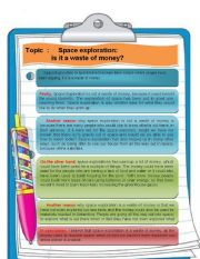 English Worksheet: Essay about space tourism