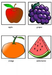 English Worksheet: Fruits flashcards (12 fruits)