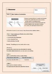 English Worksheets: Basic sentence construction