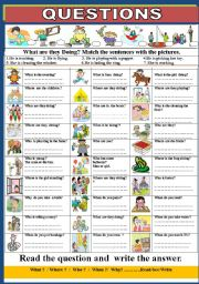 English Worksheets: Question Words :
