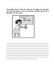 English Worksheets: describing peole