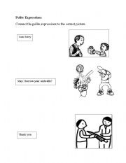 English Worksheets: polite expressions