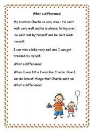 English Worksheets: What a difference!